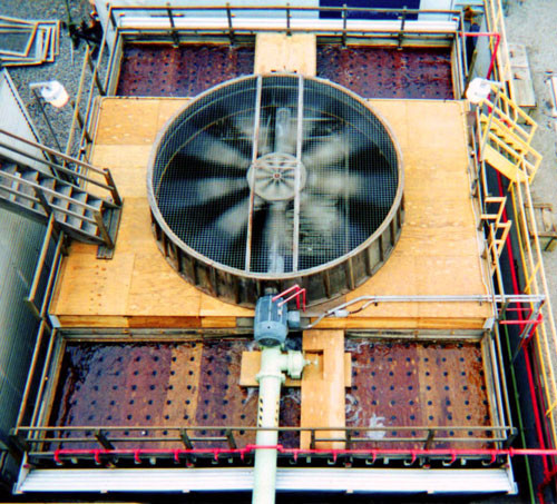 Cooling Tower Hot Water Basin & Fan Deck Replacement