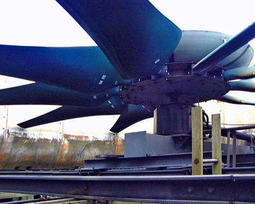 AFTER - Engineered Cooling Tower Axial Fan Replacement