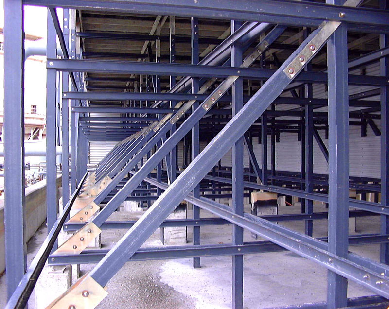 AFTER - Cooling Tower Lumber to Fiberglass Structural Conversion