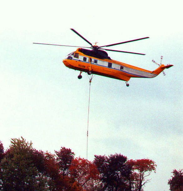 Helicopter Lift of Cooling Tower