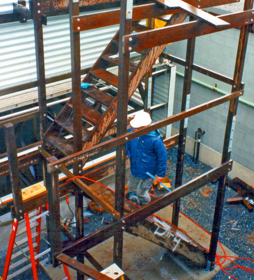 DURING - Cooling Tower Stairway Installation
