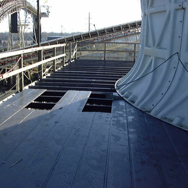 DURING  - Cooling Tower Fan Deck Replacement