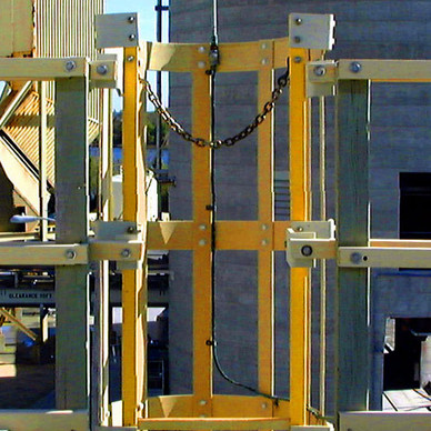 BEFORE - Cooling Tower Self Closing Safety Gate
