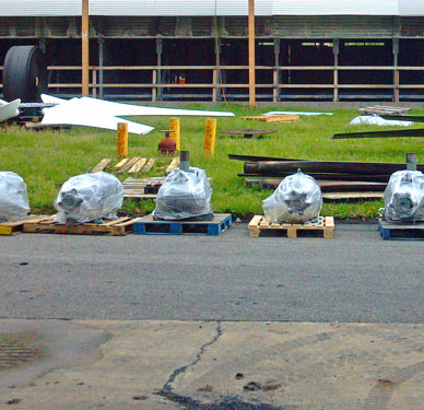 READY - Cooling Tower Geareducers and Motors Awaiting Installation.