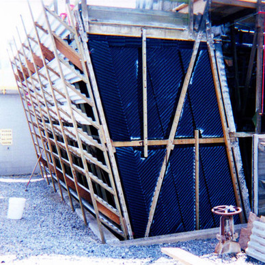 DURING - New Cooling Tower Siding
