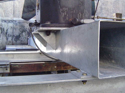 AFTER - New Hot Dip Galvanized Mechanical Equipment Support Installed (Square Tube)