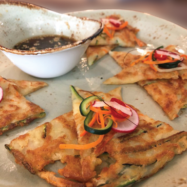 TRIO OF VEGETABLE PANCAKE