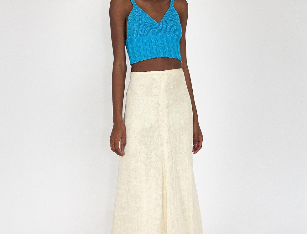 Long skirt beige