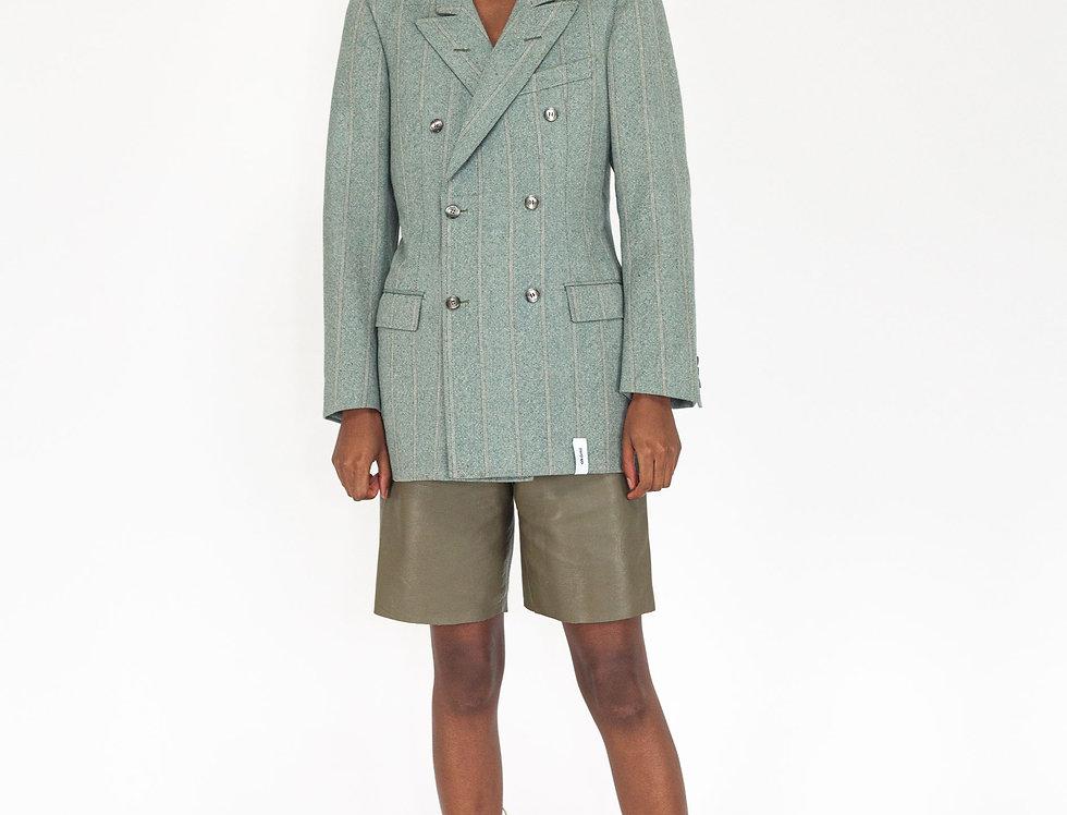 Green pinstripe jacket