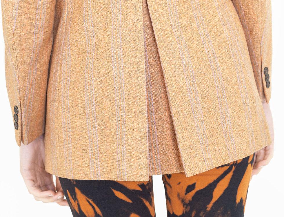 Orange single breasted jacket