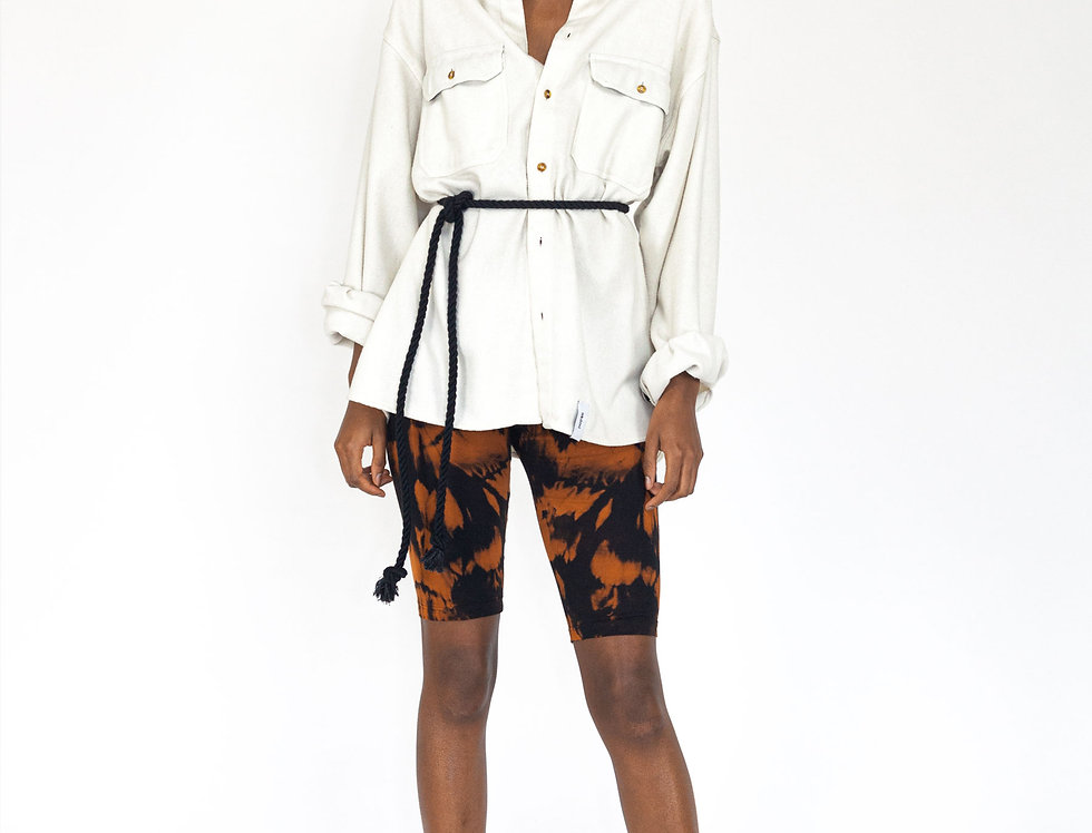 White flannel waistband