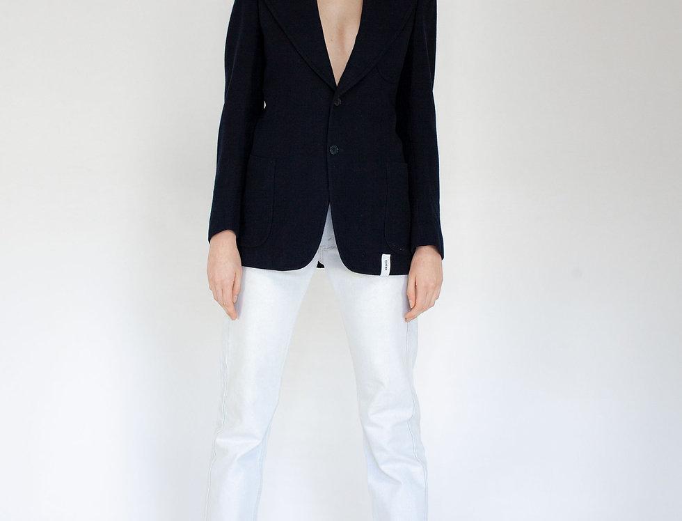Dark blue fitted jacket