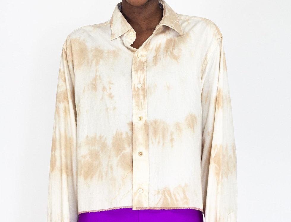 Cropped tie dye blouse
