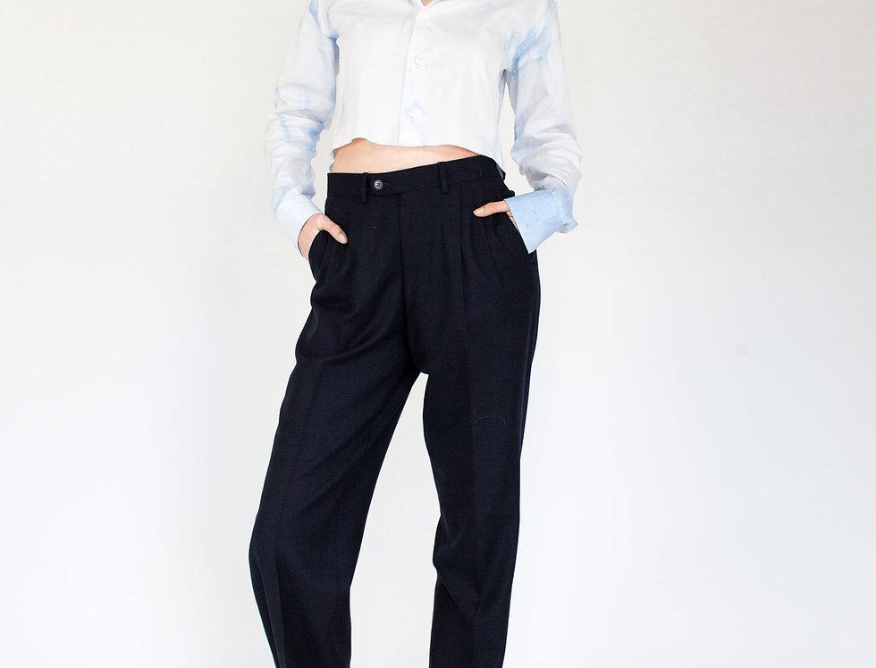 Paperbag dark blue trousers