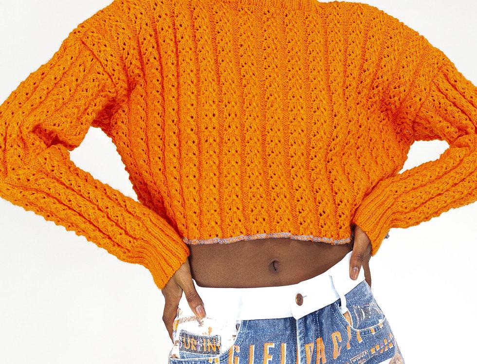 Denim shorts orange