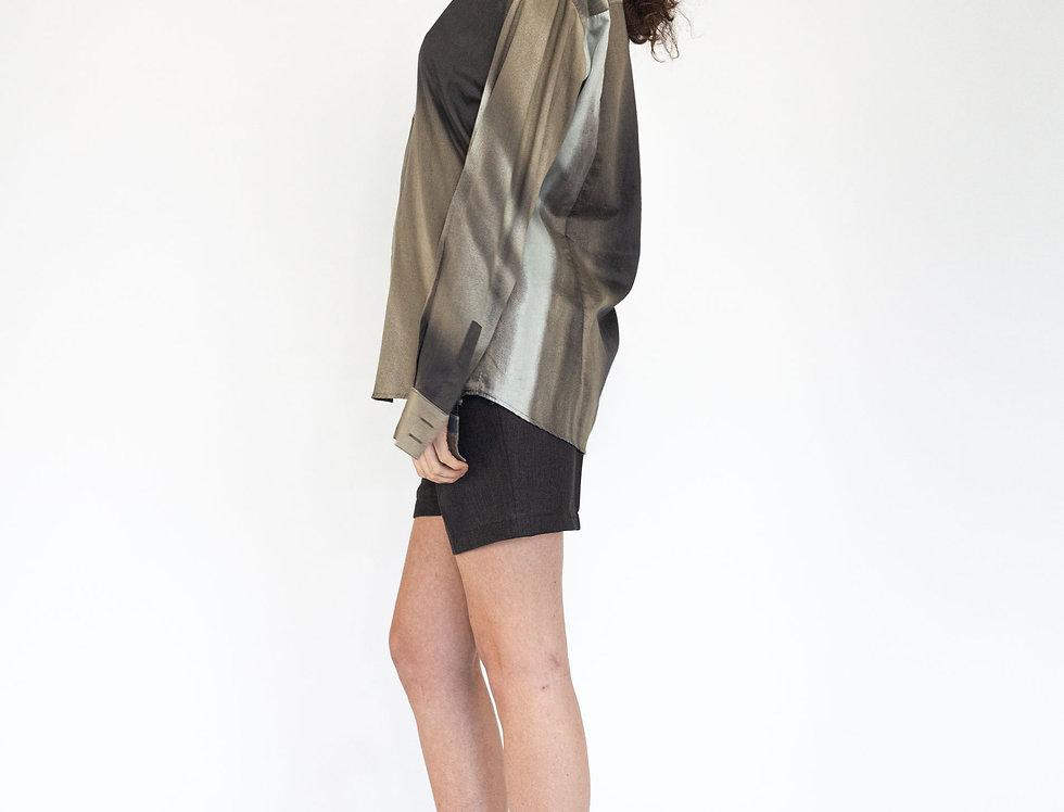 Roberto Cavalli camouflage blouse