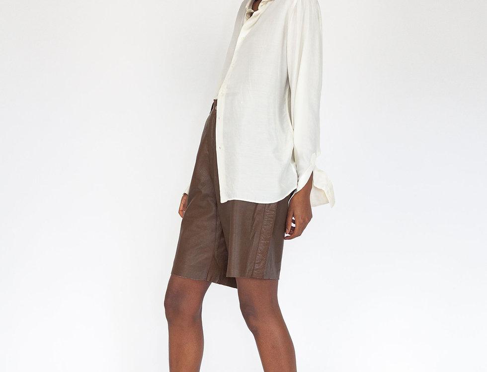 Off-white silk blouse