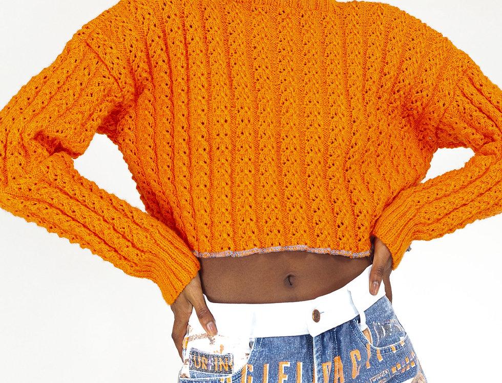 Chunked orange knit