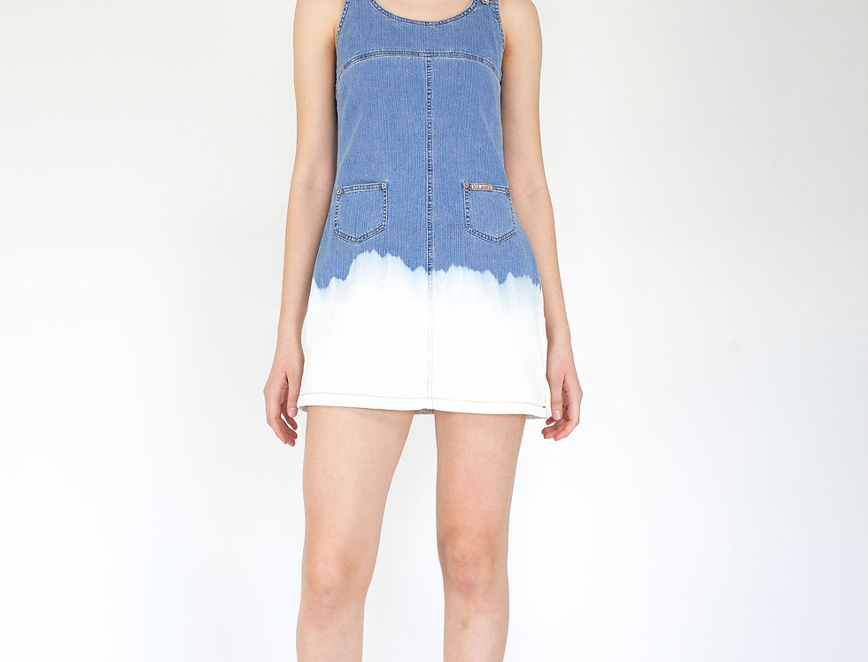 Denim dress tie dye