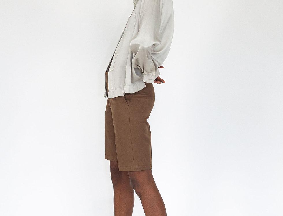 Silk top stitch blouse