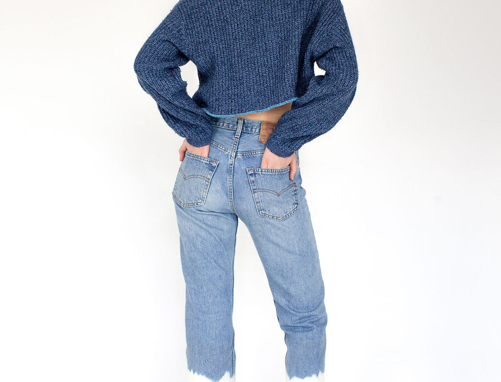Chunked blue knit