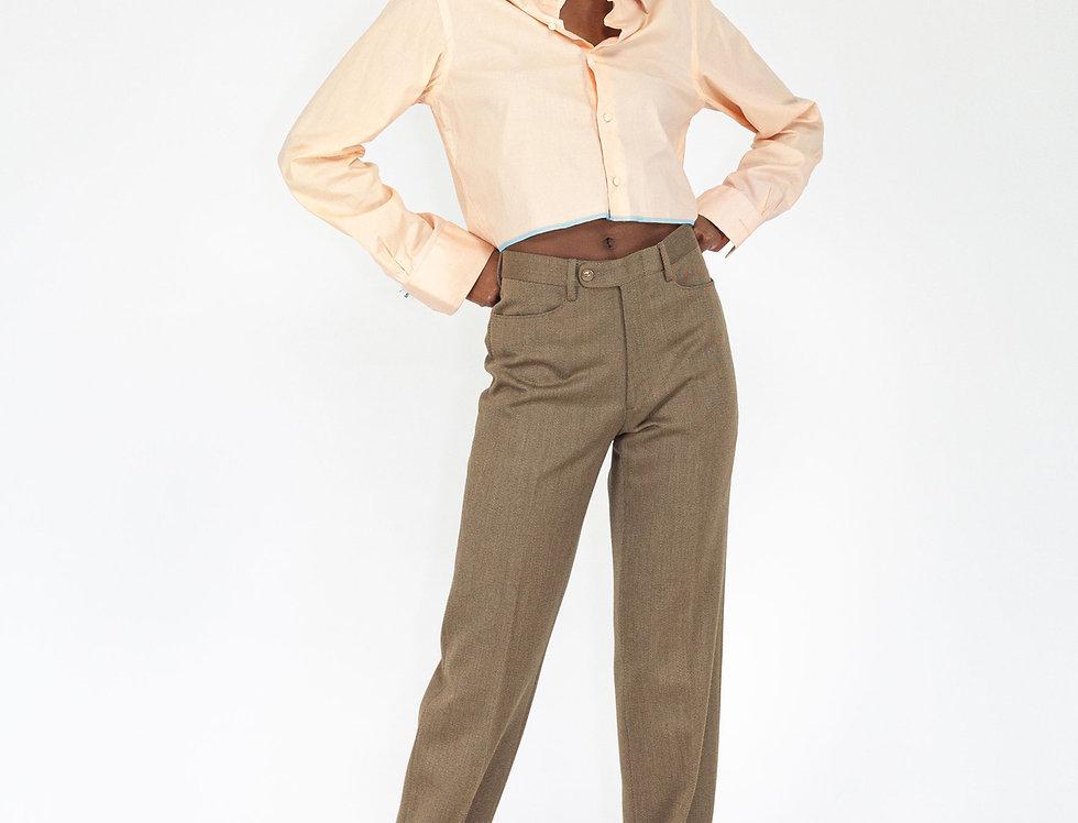 Cropped peach blouse