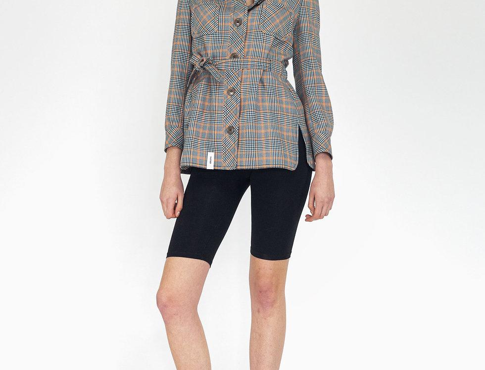 Multi colored waistband jacket