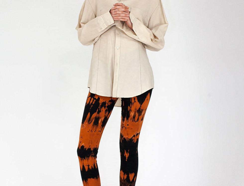 Linen top stitched blouse