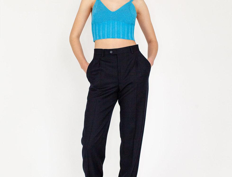 Dark blue trousers