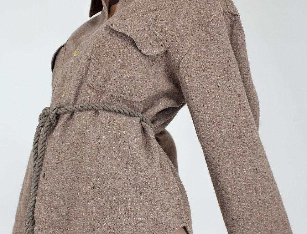Beige flannel waistband