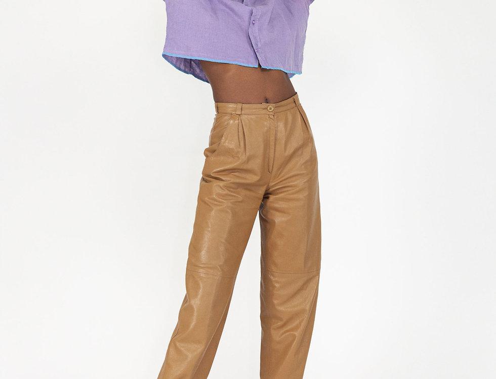 Chunked blouse purple