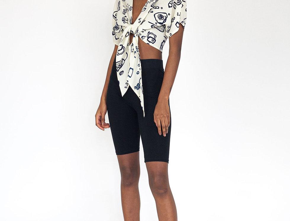 Wrap blouse print