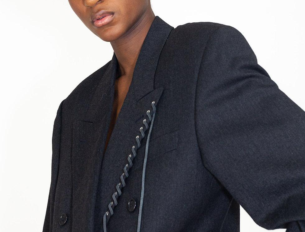 Grey eyelet jacket