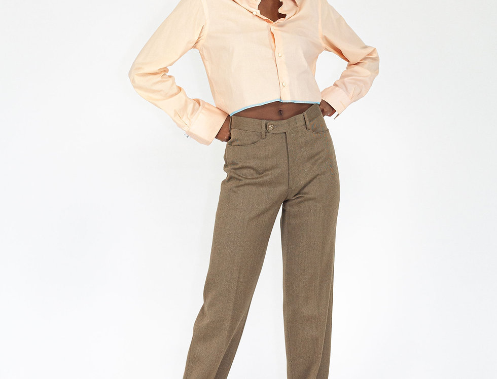 Paperbag trousers brown