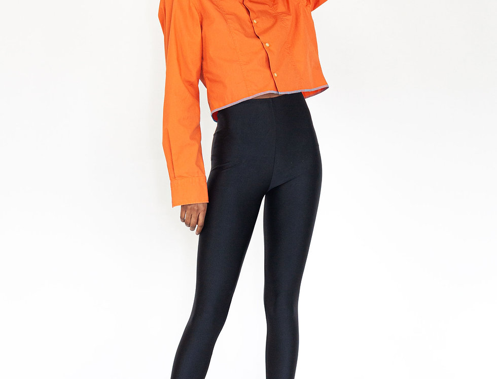 Black shiny legging