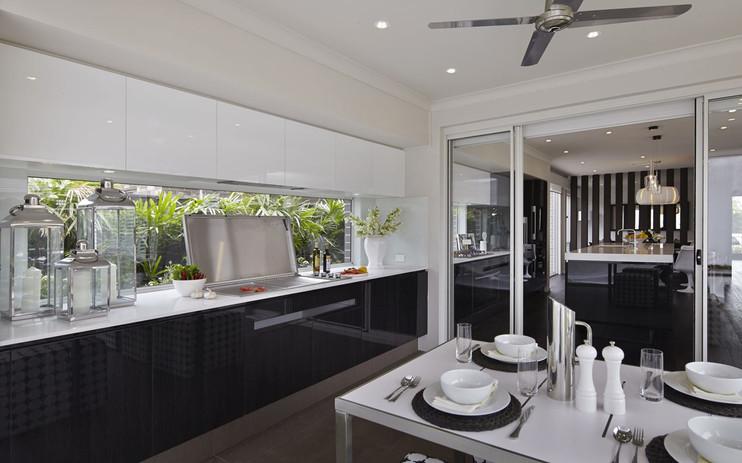 Cabinetry - Alfresco - B glass black - U