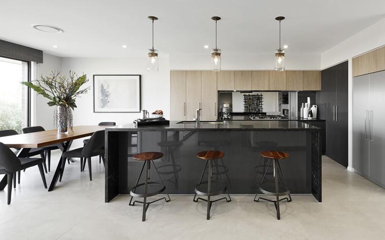 Kitchen - C grey - U wood and grey - B b