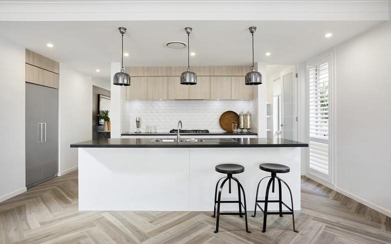 Kitchen - C white and wood - B black - u