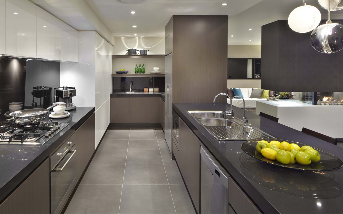 Kitchen - C grey - U grey and white - B