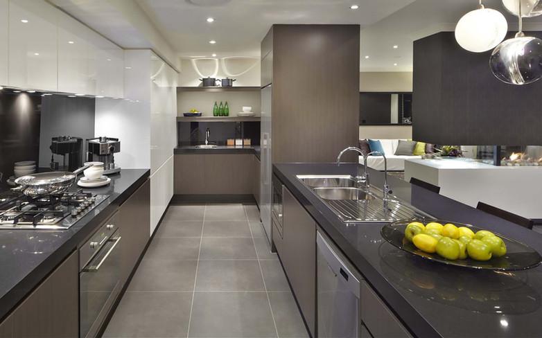 Kitchen - C grey - U grey and white - B