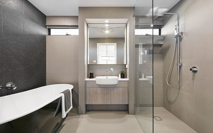 Vanity - C wood - B white - semi rec apr