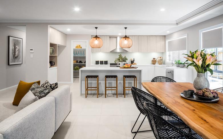 Kitchen - C white - U wood - B white dou