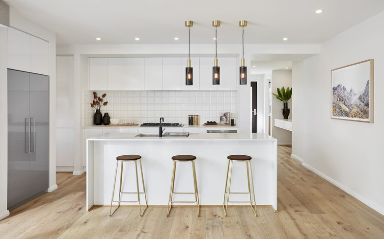 Kitchen - C white - B white and waterfal