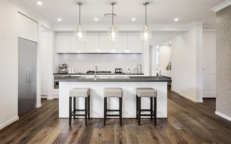 Kitchen - C white - B grey - undermount.