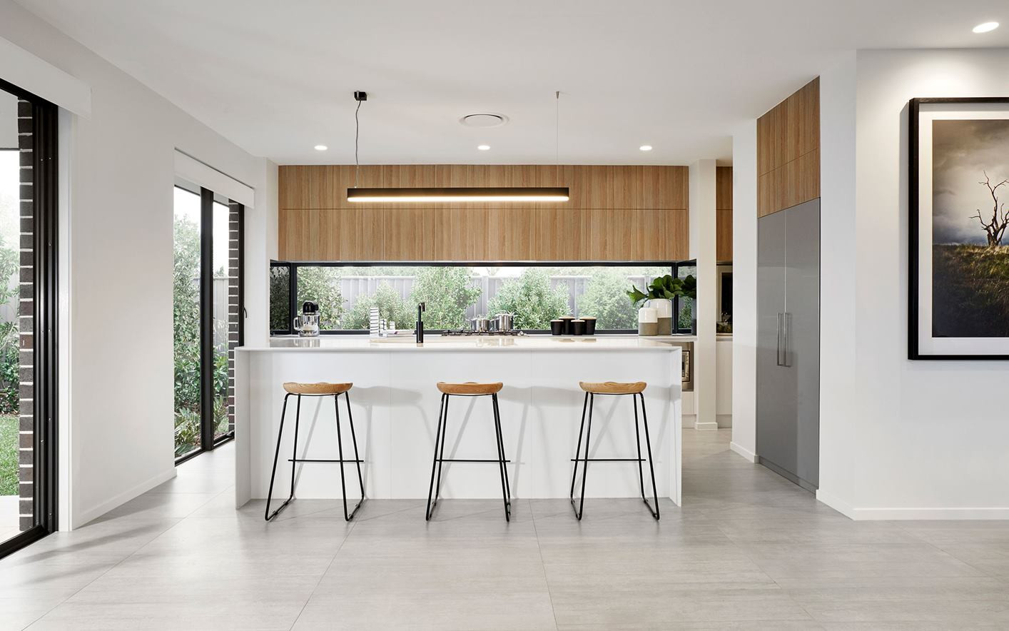 Kitchen - C white - U wood - B white dou