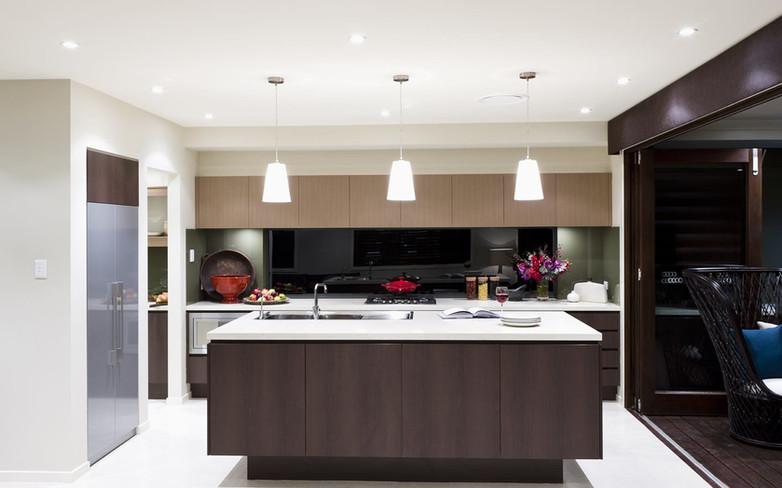 Kitchen - C dark wood - U wood - B white