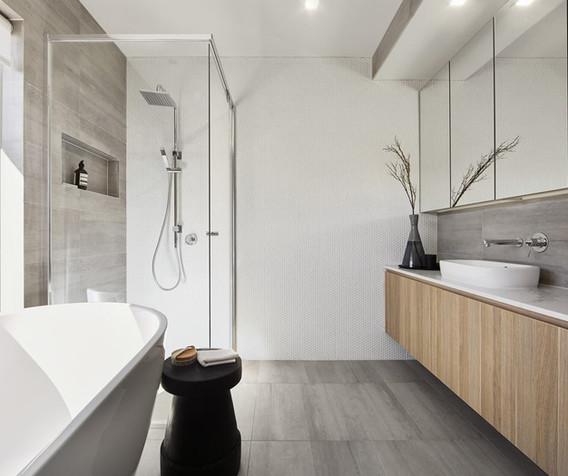 Vanity - C wood - B white - top mount -
