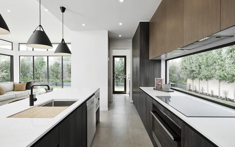 Kitchen - C wood black - B white - under