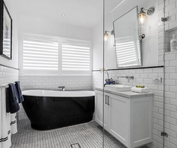 Vanity - C white - B white - semi recess