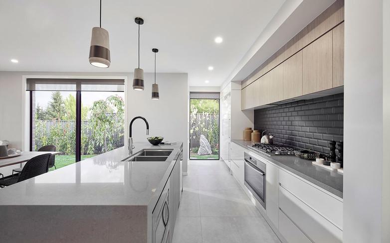 Kitchen - C white - U wood - B grey doub
